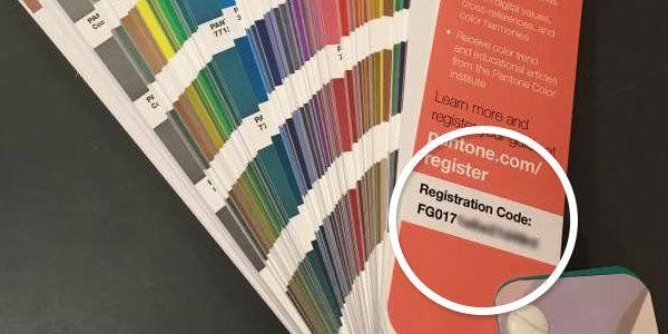 Pantone color Guide registration code
