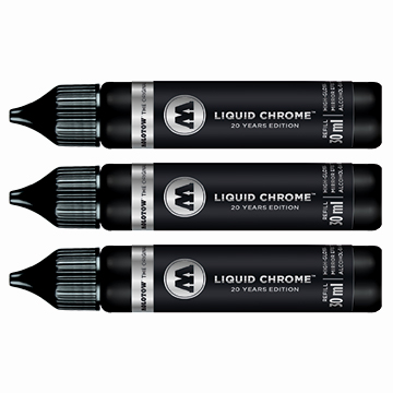 Liquid Chrome refill fra Molotow