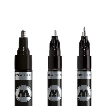 Liquid Chrome pump marker fra Molotow